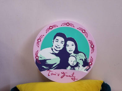 POPDUCTION PopArt Handmade Spray Painting Circle Shape (30CM) -Just too Sweet - Babies and Kids Concept Store