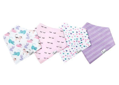 Copper Pearl SASSY baby bandana bib set (4-pack) -Just too Sweet - Babies and Kids Concept Store