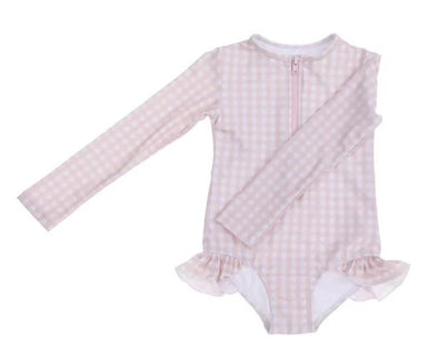 "Willow Swim ""SOPHIA"" IN PEACHY GINGHAM -Just too Sweet - Babies and Kids Concept Store"