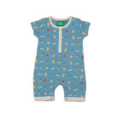 Little Green Radicals Summer Days Organic Shortie Romper -Just too Sweet - Babies and Kids Concept Store