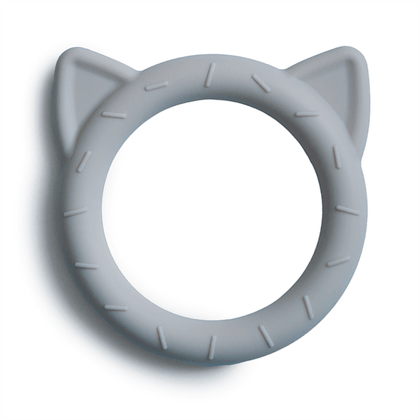 Mushie Teether Cat Stone -Just too Sweet - Babies and Kids Concept Store
