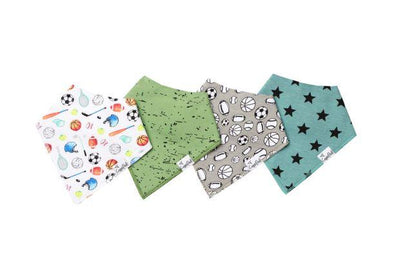 Copper Pearl VARSITY baby bandana bib set (4-pack) -Just too Sweet - Babies and Kids Concept Store