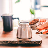Moka Pot Stainless Steel Milano 6 cup (induction oven friendly)