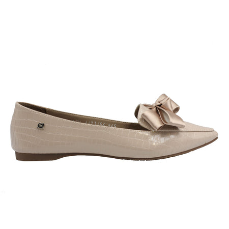 Flats nude bow