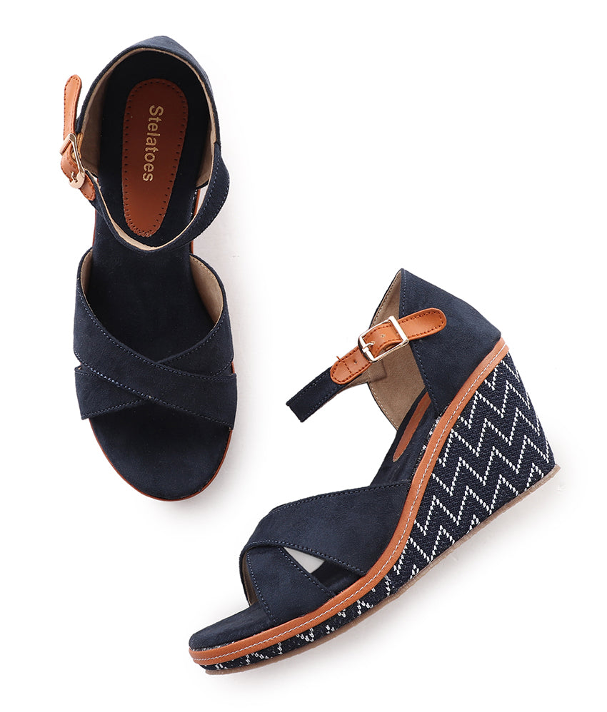 Women Blue Casual Sandals