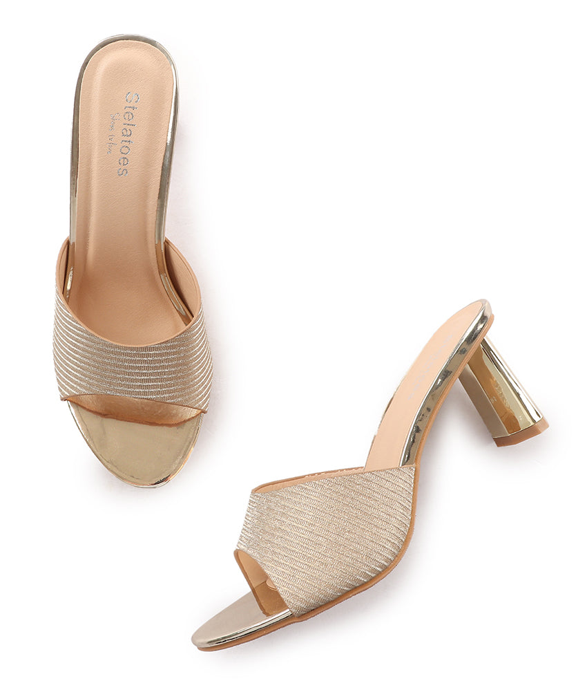 Women Gold Party Sandals