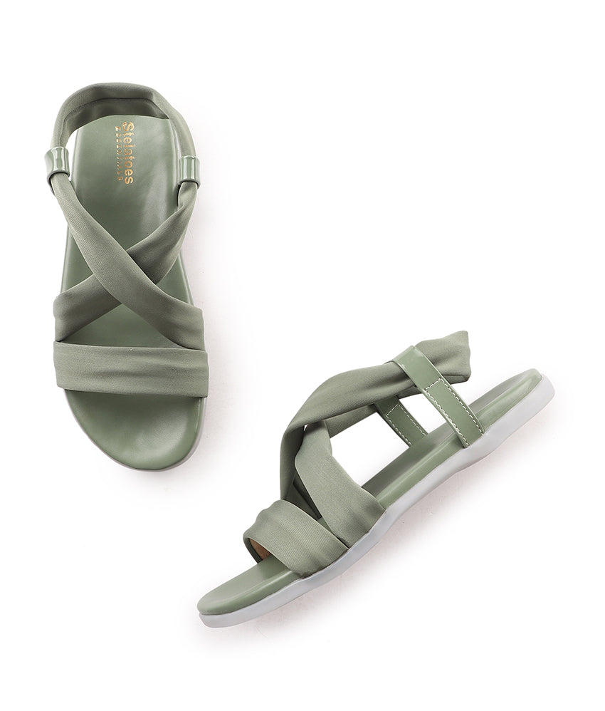 Women Green Casual Sandals