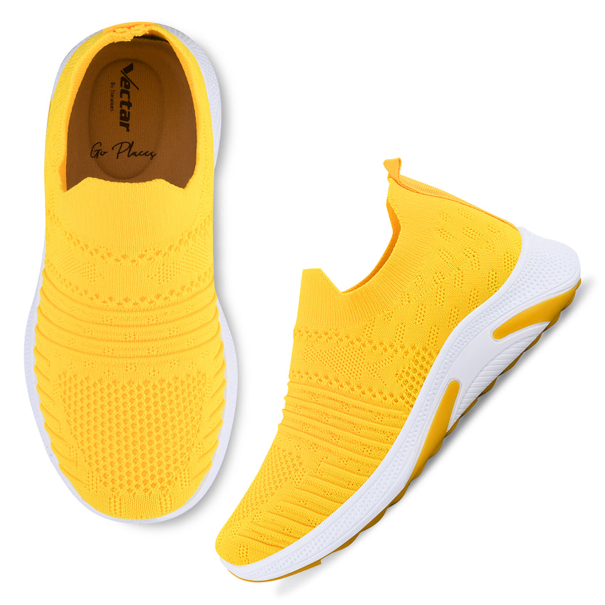 Women Yellow Casual Sneakers