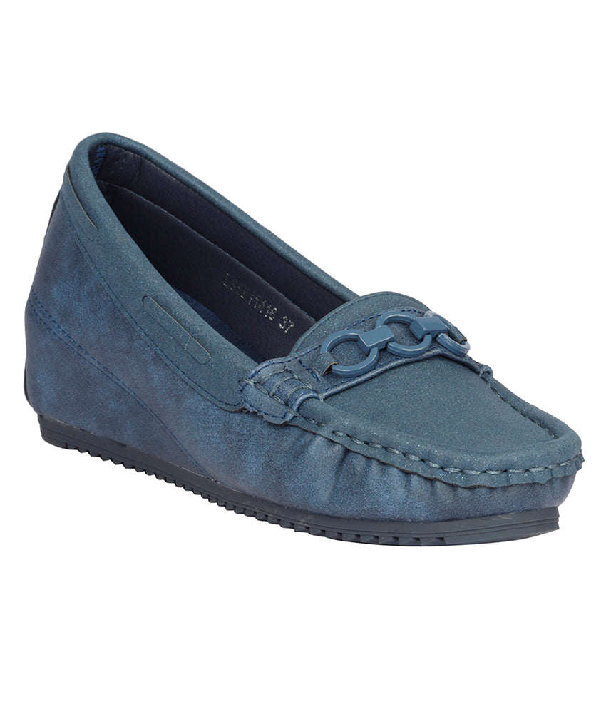 Women Blue Party Loafers