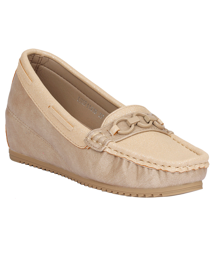 Women Beige Party Loafers