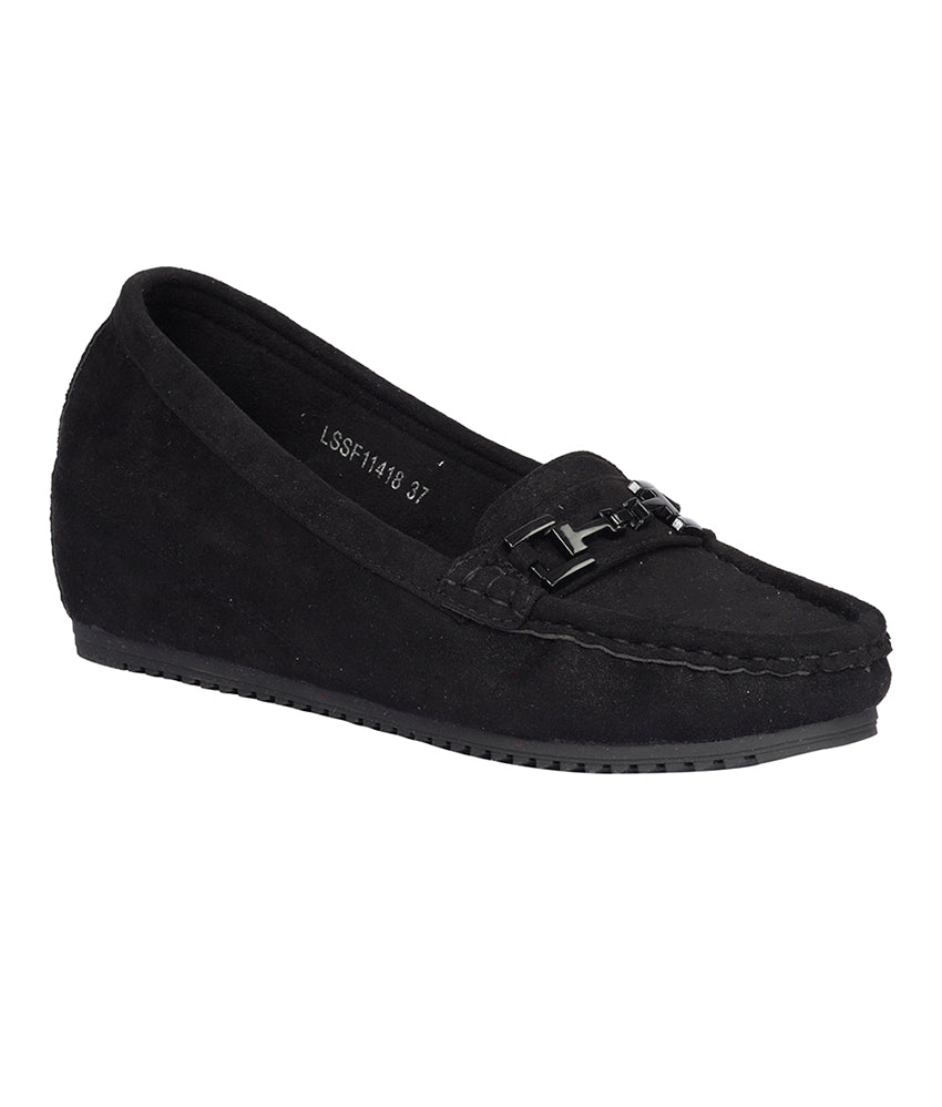 Women Black Party Loafers