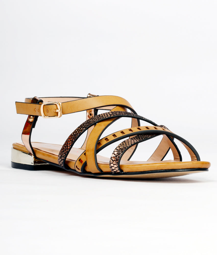 Women Beige Urban Sandals