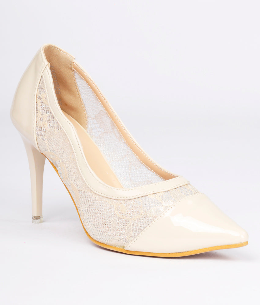Women Beige Party Pumps