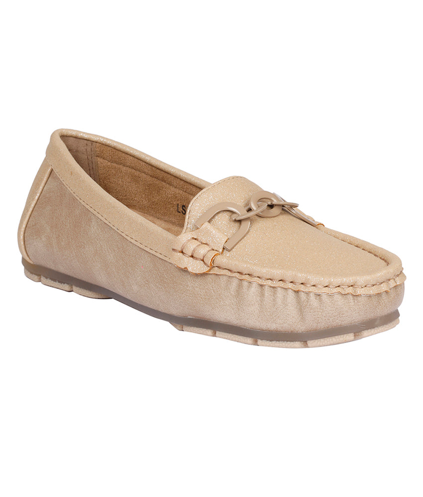 Women Beige Casual Loafers