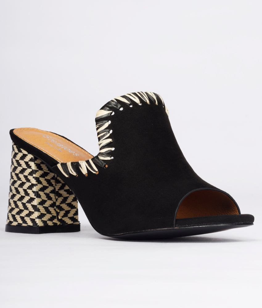 Women Black Urban Peep Toes