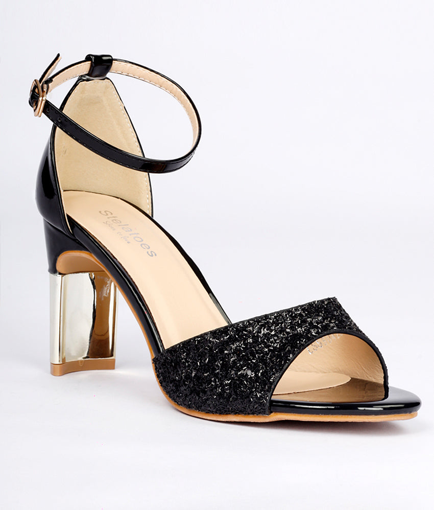 Women Black Party Sandals