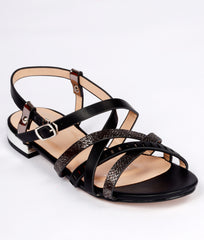 Women Black Urban Sandals