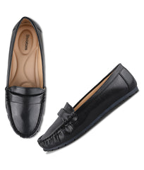 Women Black Urban Comfort Loafers