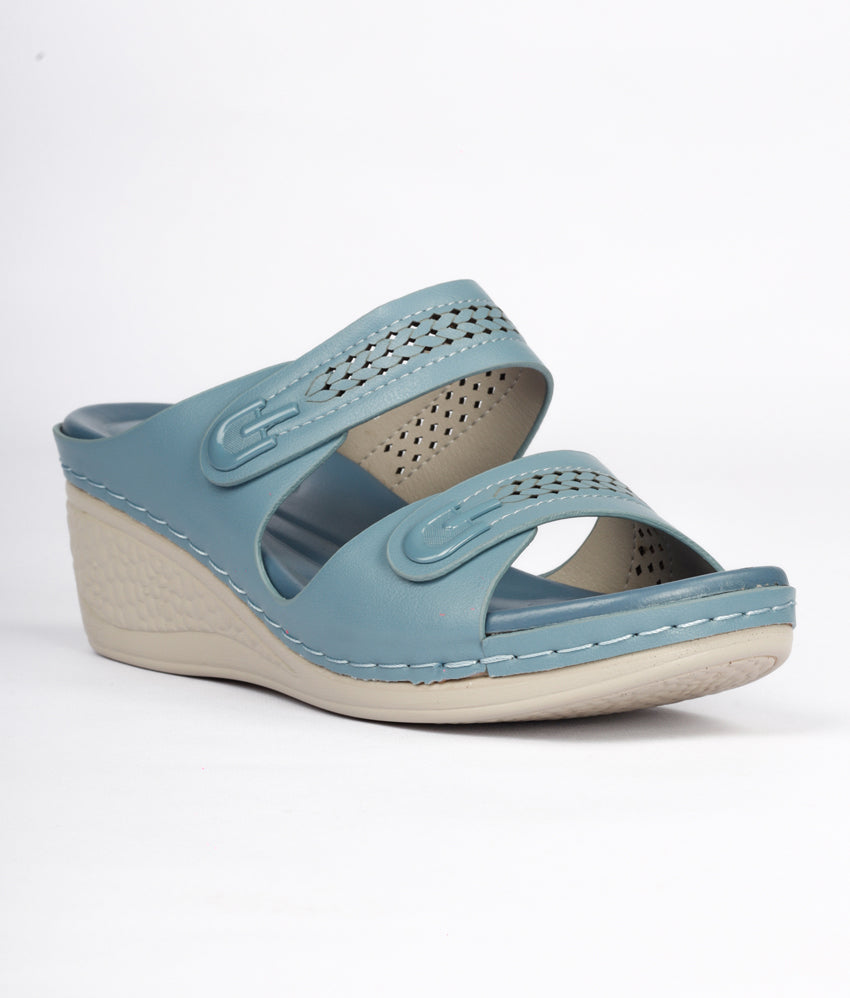 Women Blue Casual Slip on