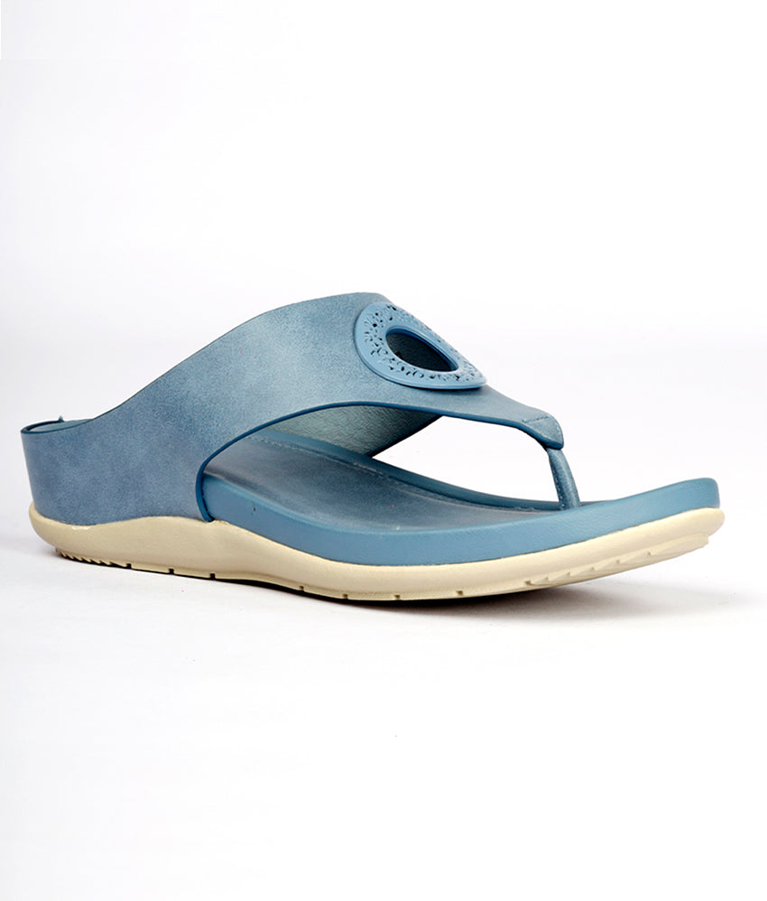Women Blue Casual Flip Flops