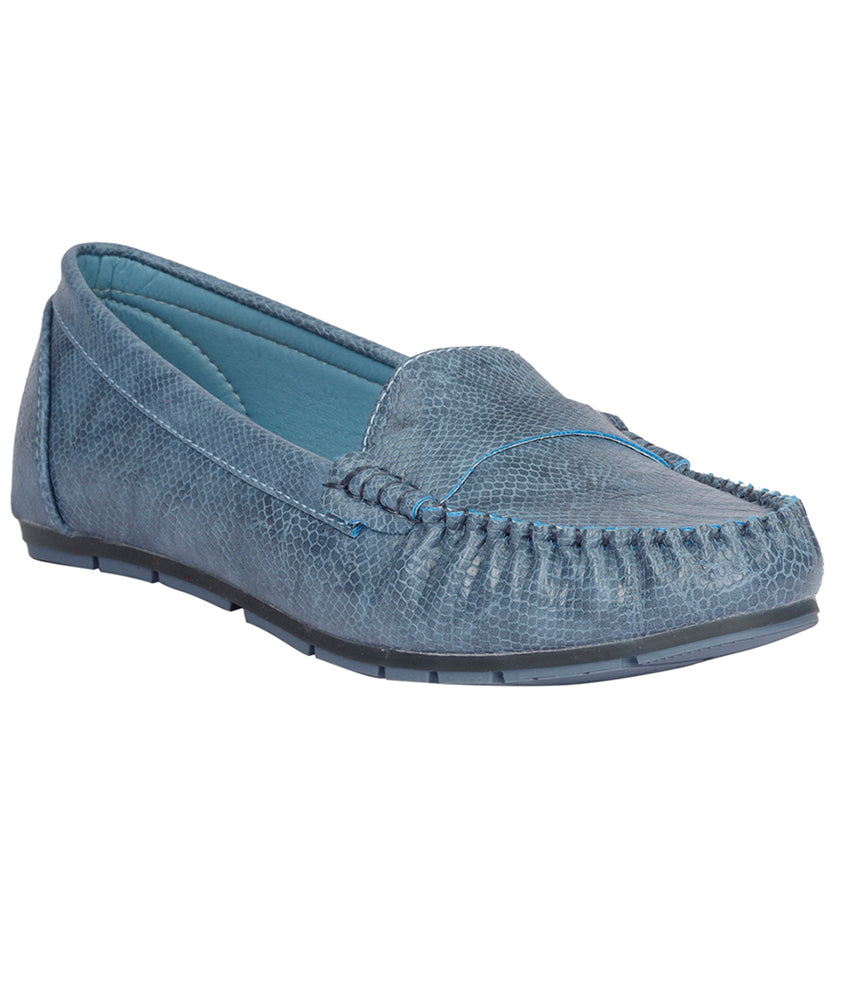 Women Blue Casual Loafers