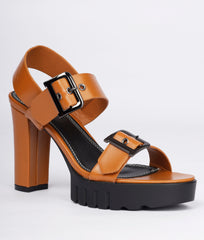 Women Camel Urban Sandals