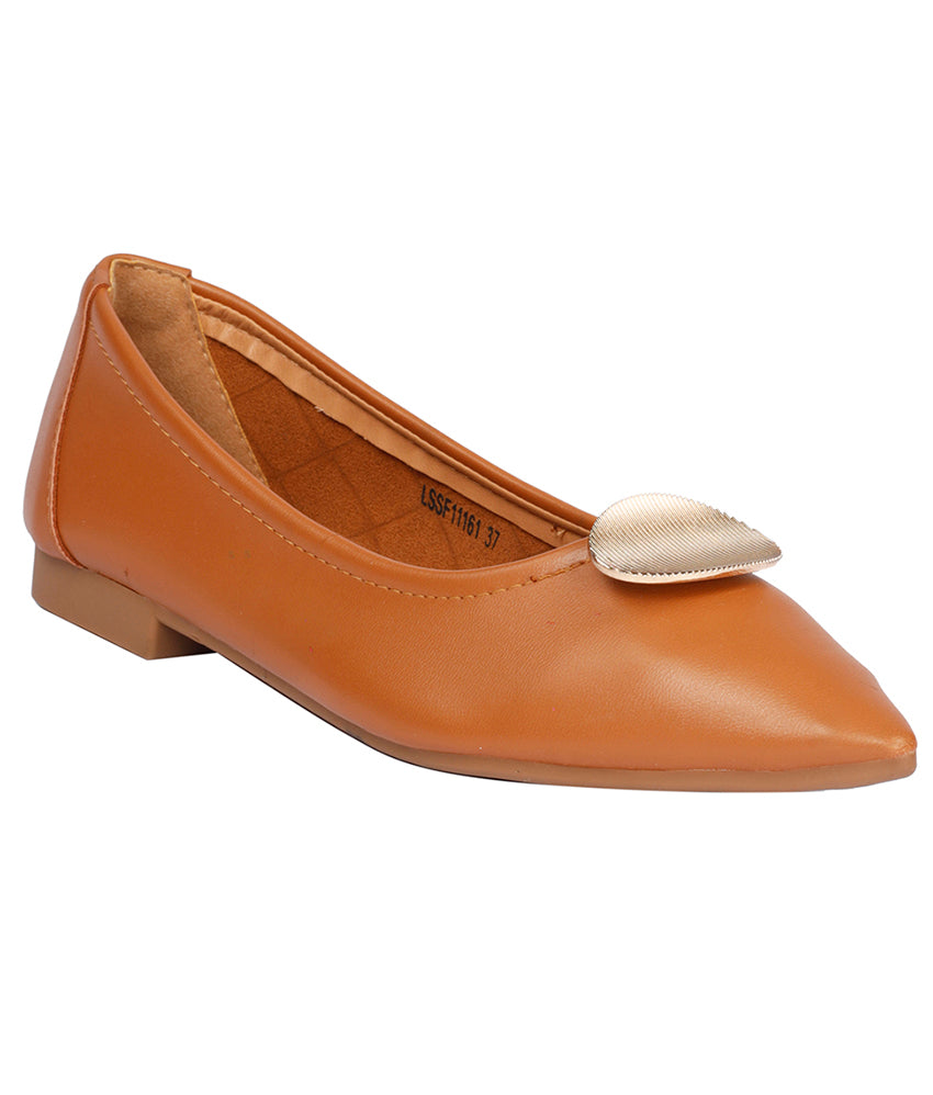 Women Camel Casual Ballerinas