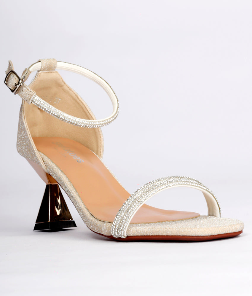 Women Gold Wedding Open Toe