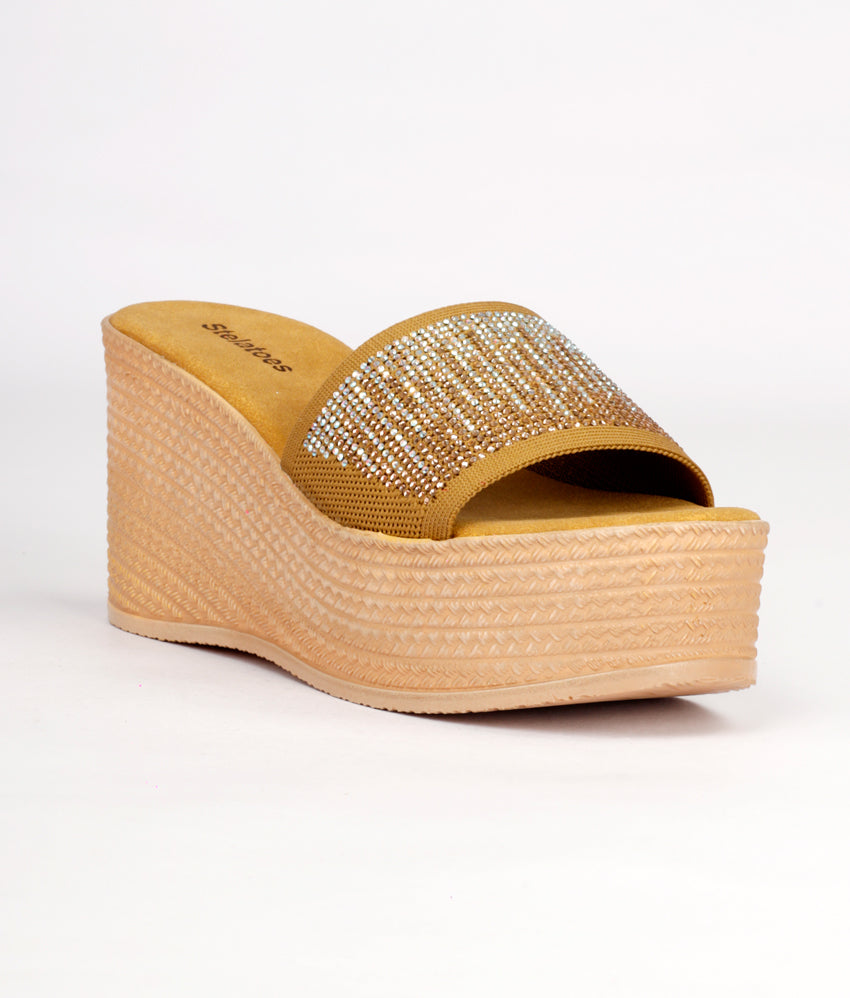 Women Gold Casual Slip on