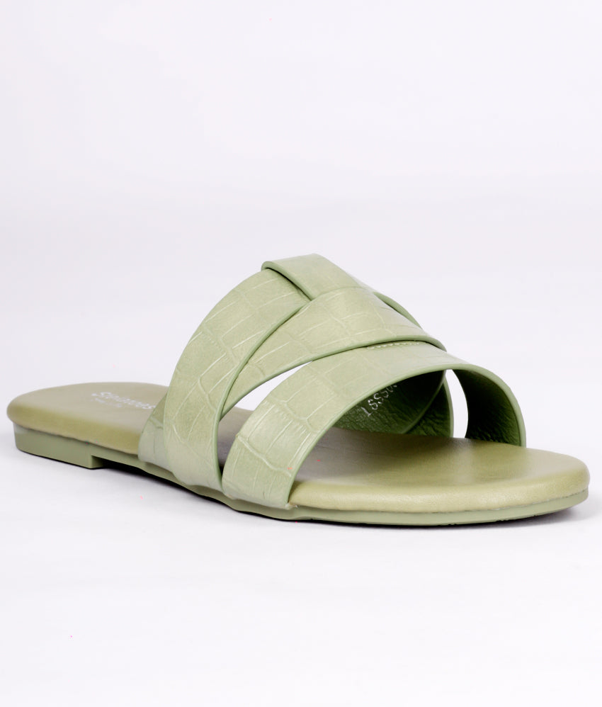 Women Green Casual Slip on
