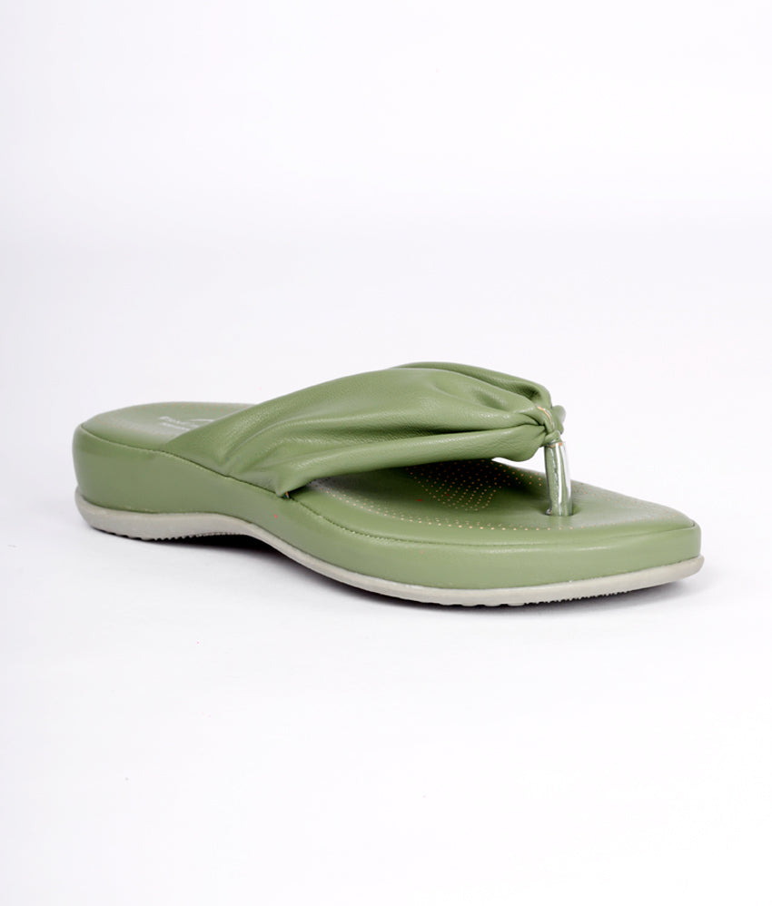 Women Green Casual Thong