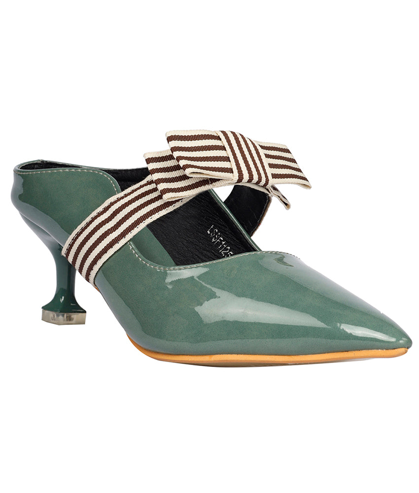 Women Green Urban Mules