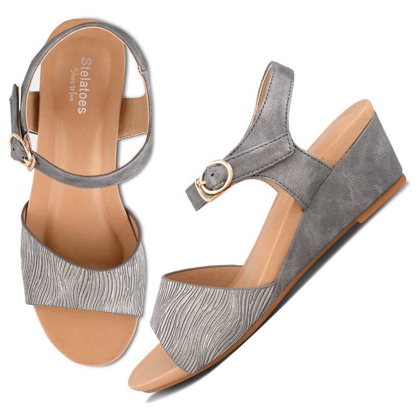 Women Grey Casual Sandals