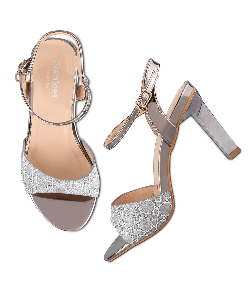 Women Grey Party Sandals