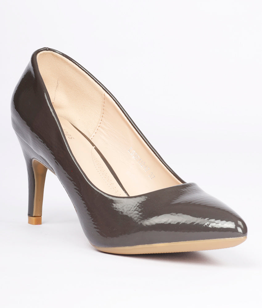 Women Grey Formal/Work Pumps