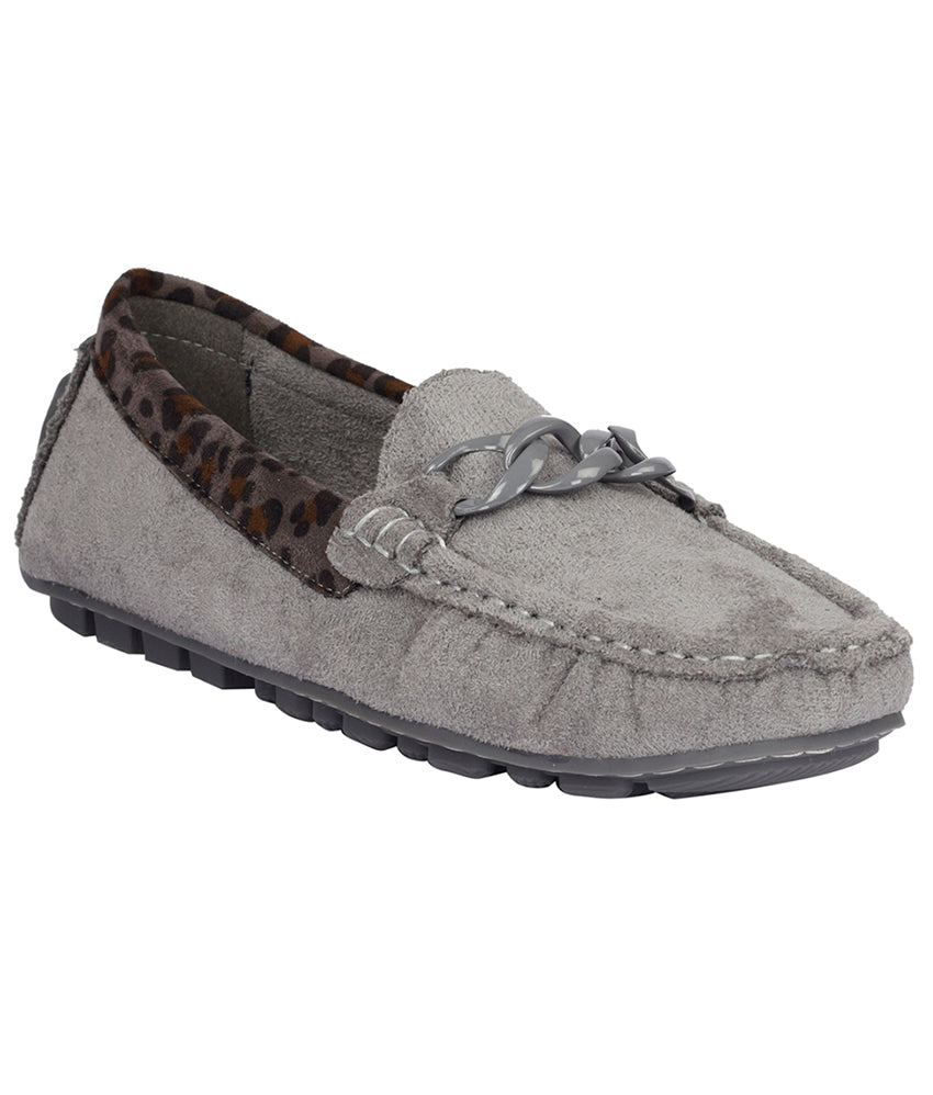 Women Grey Casual Loafers