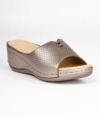Women Gunmetal Urban Slip on