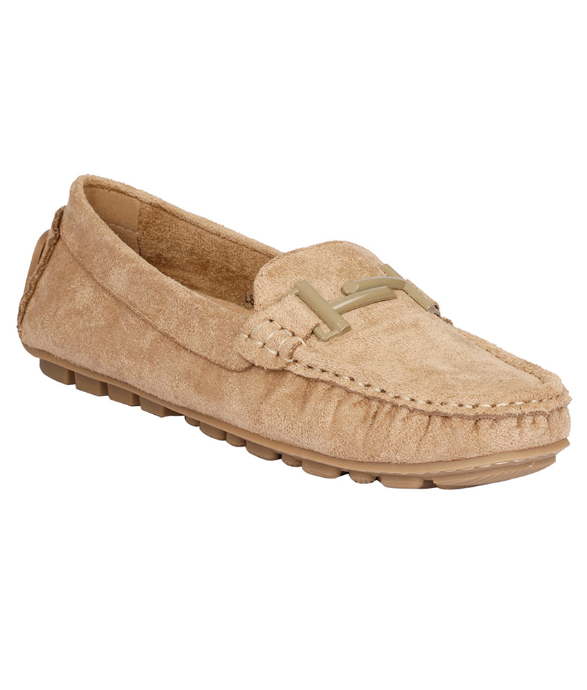 Women Khaki Casual Loafers