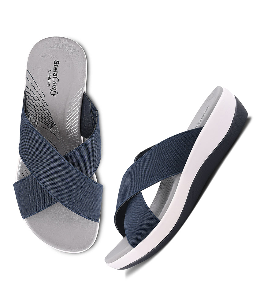 Women Navy Casual Slip on