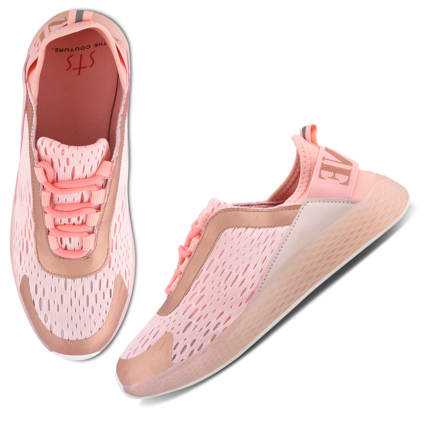 Women Pink Urban Sneakers