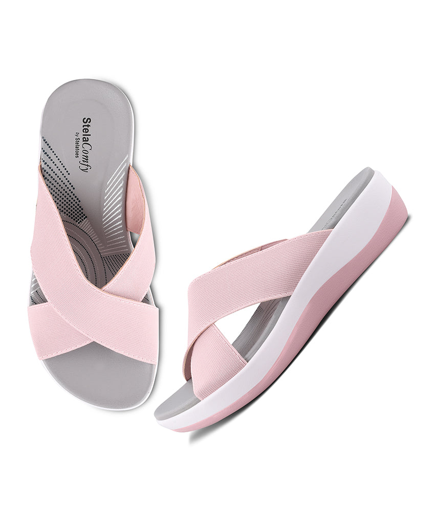Women Pink Casual Slip on
