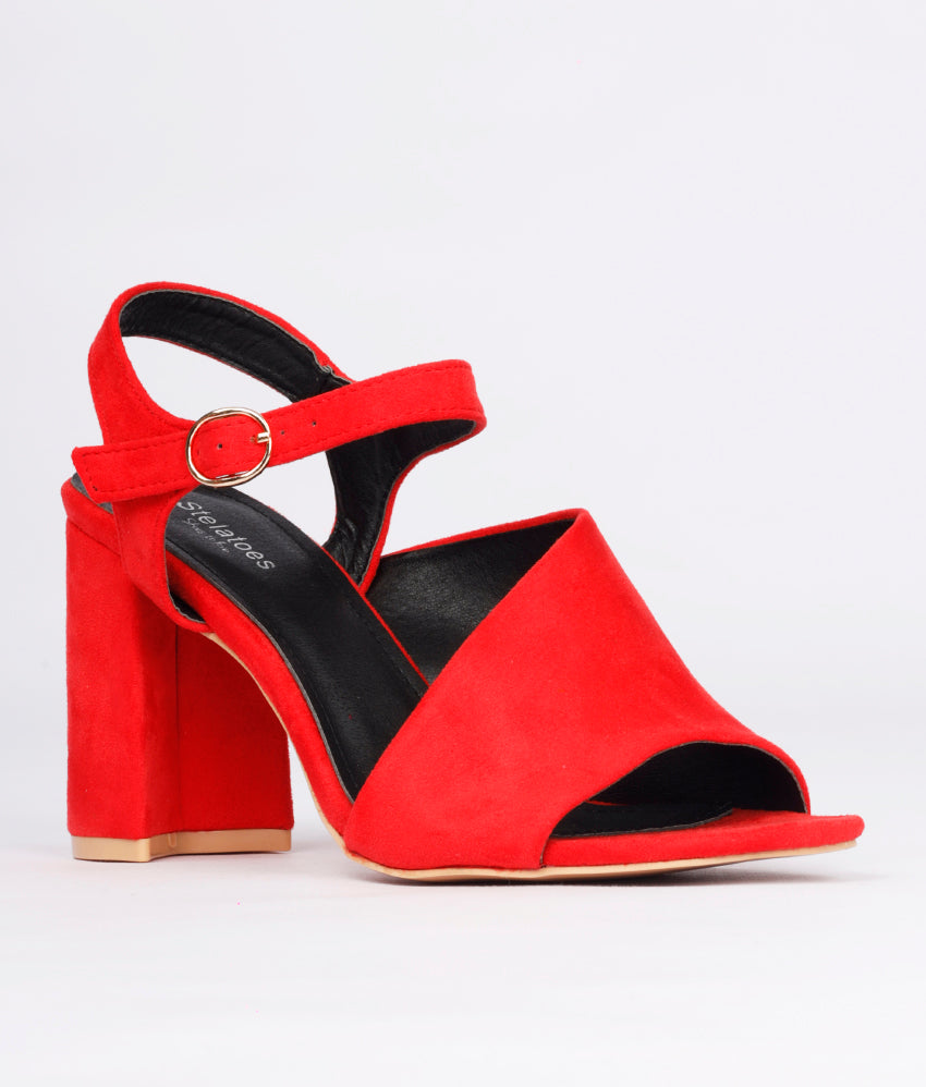 Women Red Urban Peep Toes