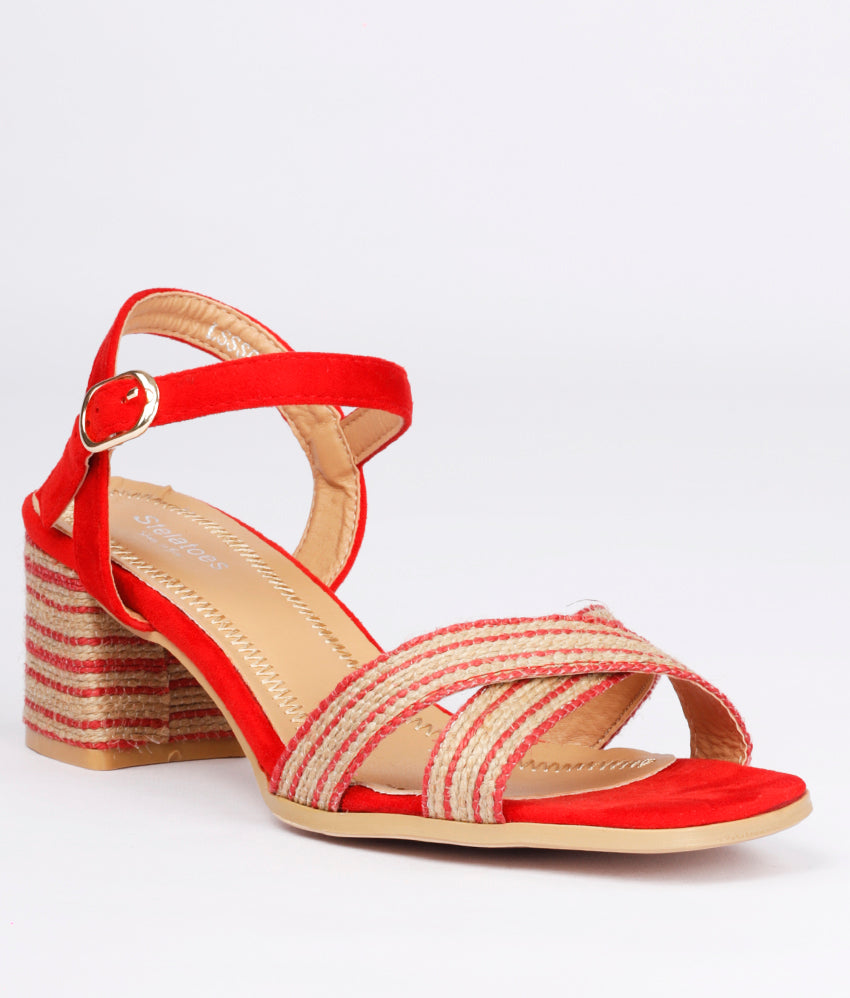 Women Red Casual Sandals