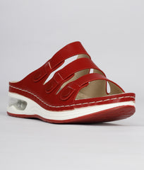 Women Red Urban Slip on