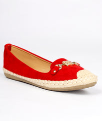 Women Red Urban Ballerinas