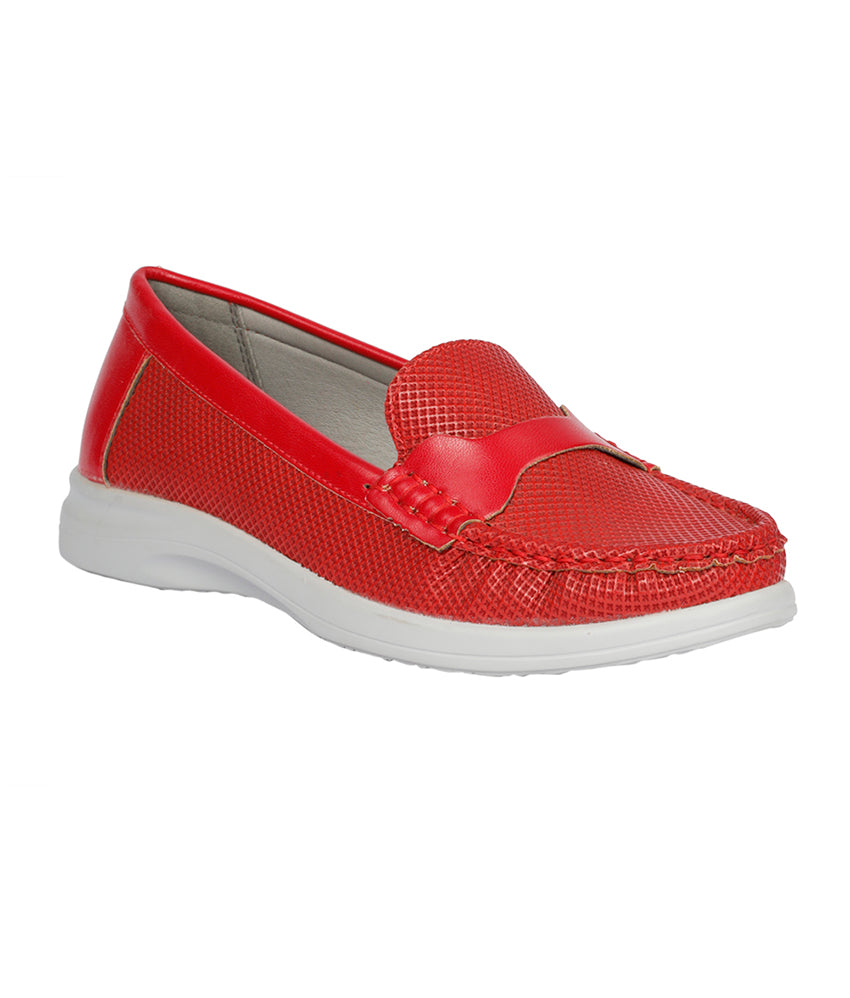 Women Red Casual Loafers