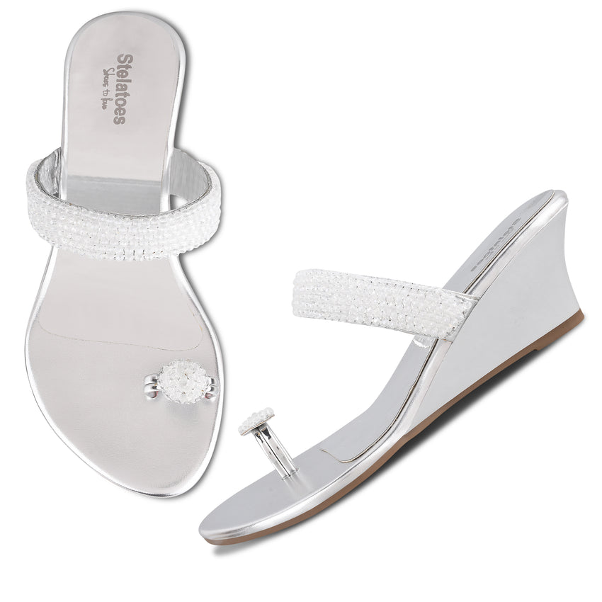 Women Silver Ethnic One Toe