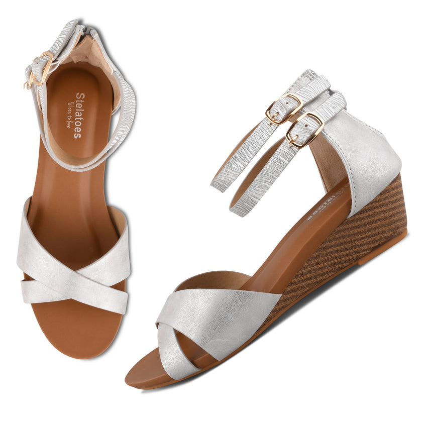 Women Silver Casual Sandals