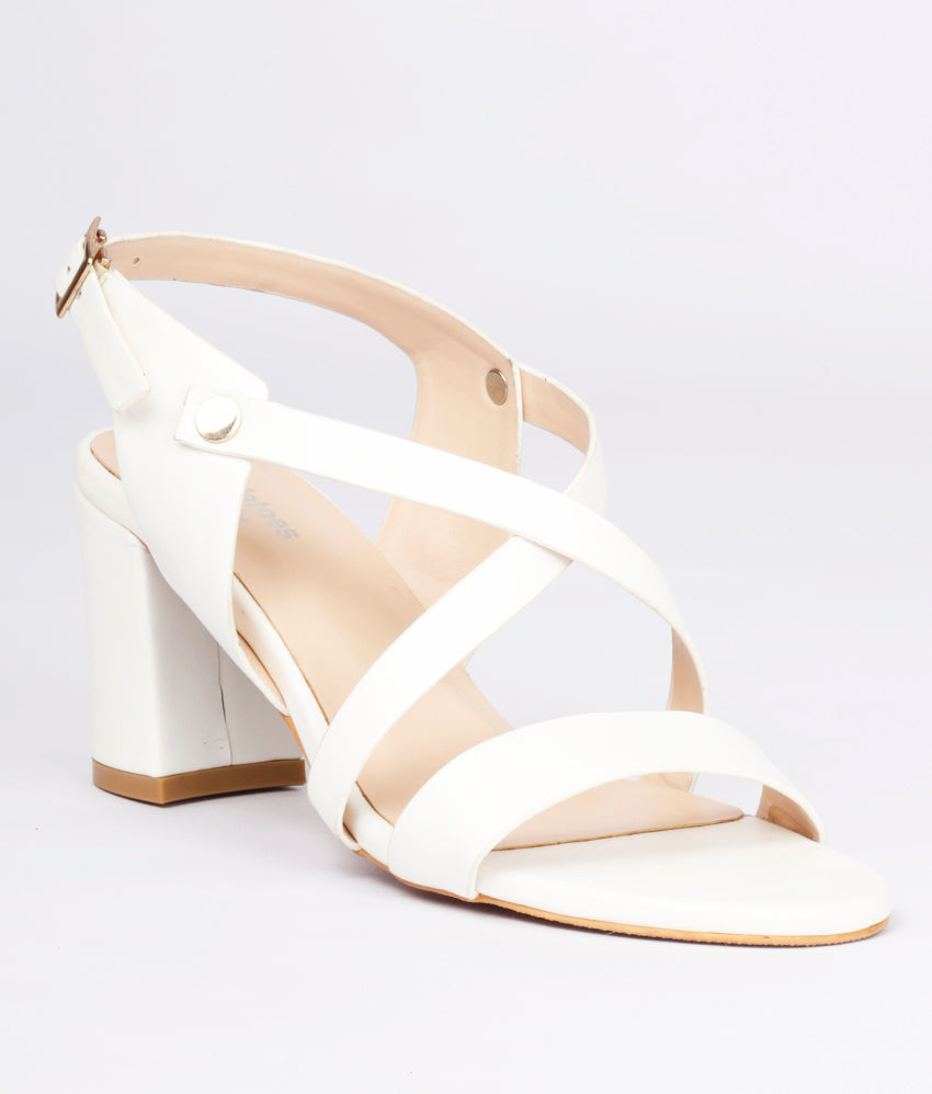 Women White Casual Sandals