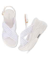 Women White Urban Sandals